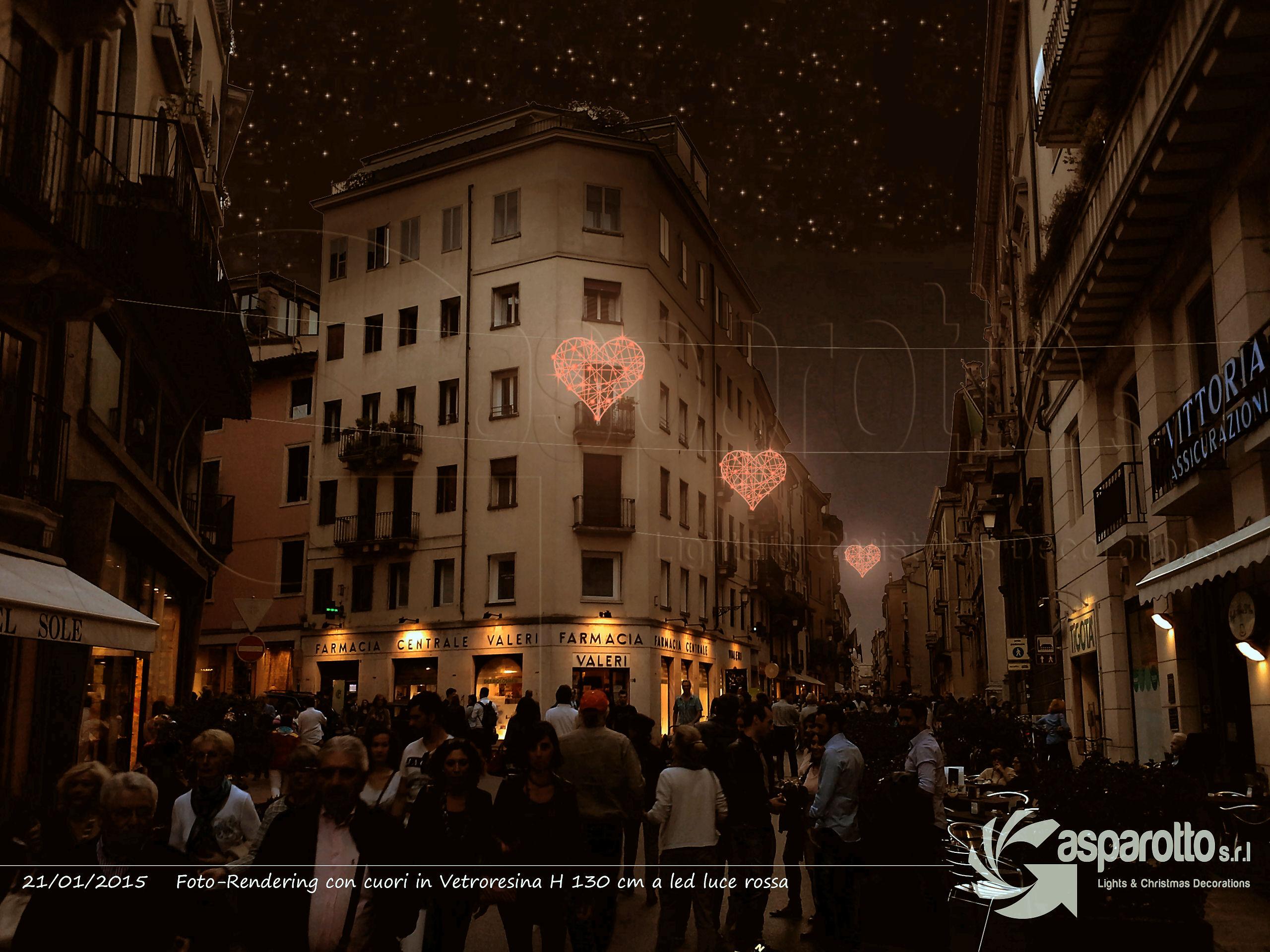 San Valentino, cuori luminosi nelle vie del centro storico ...