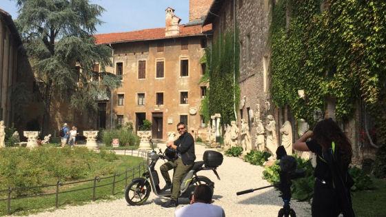 Tappa a Vicenza per il giornalista Motoreetto a bordo del ...