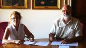 Firma convenzione_Chiara Visentin e Carlo Presotto