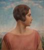 Oppi, 1.Ubaldo Oppi, Ritratto della moglie, 1928. Collezione privata Milano