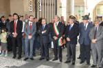 La cerimonia nell'atrio di palazzo Trissino